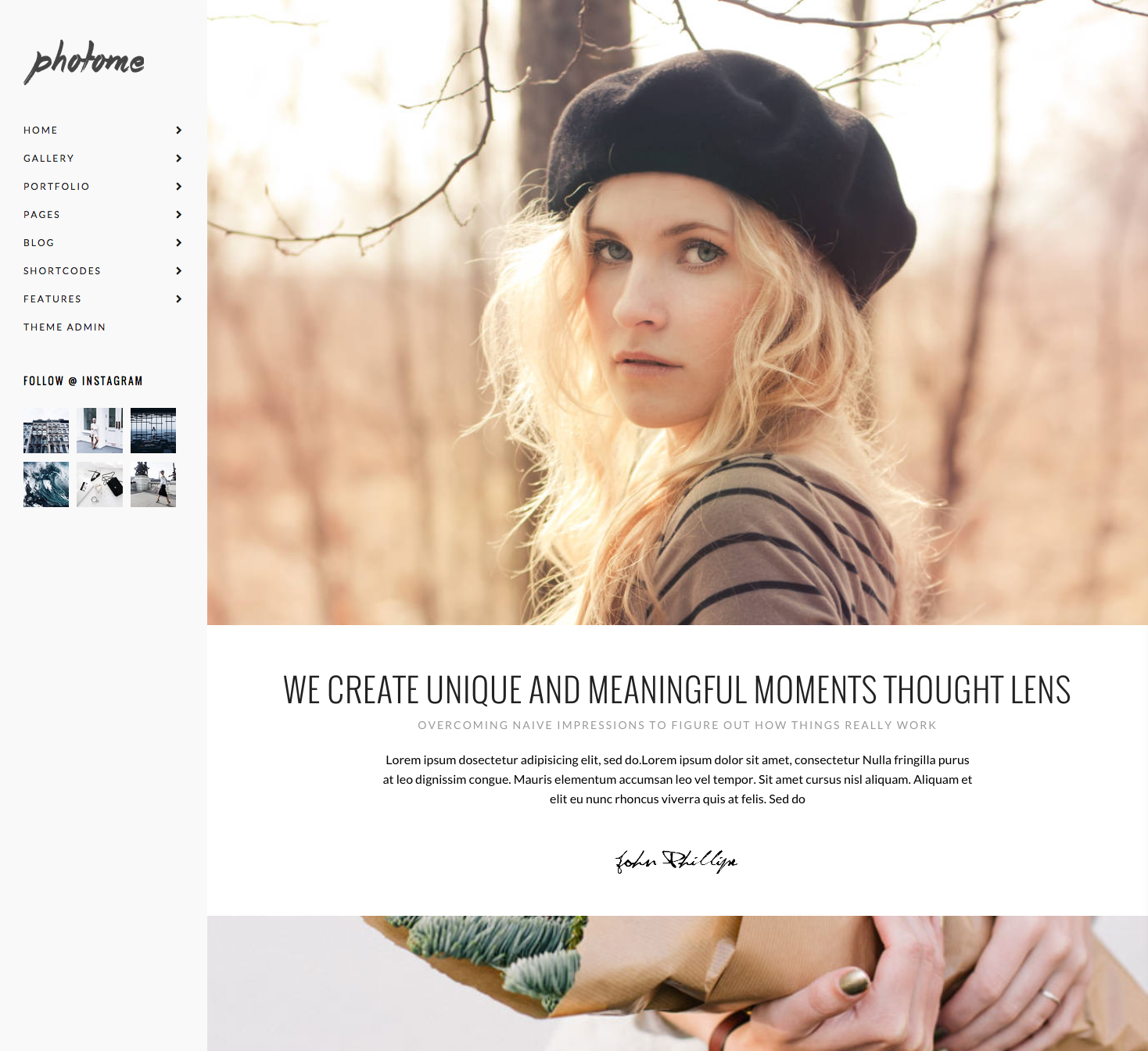 Home  Parallax   Photo Me   Photography Portfolio Theme5